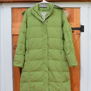 LL Bean Long Down Coat